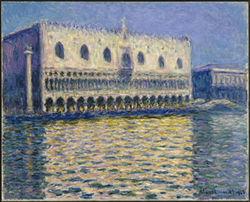 "Claude Monet's ""Le Palais Ducal,"" oil on canvas."