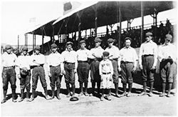 Blast from the past: An 1890s Denver team at Broadway Park.
