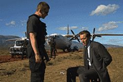 Fight club: Ethan Hawke and Nicolas Cage negotiate  in Lord of War.