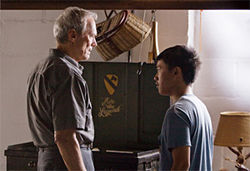 Clint Eastwood and Bee Vang find connection in Gran Torino.