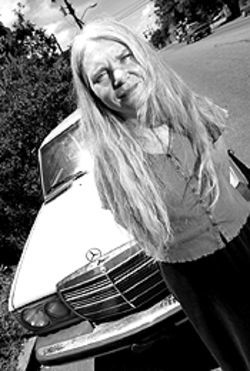 Waste not, want not: Marilyn Megenity and her  biodiesel Benz.
