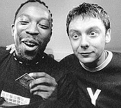 Rave on: Shaun Parkes and John Simm in Human Traffic.