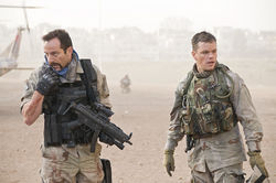 Jason Isaacs and Matt Damon star in Green Zone.