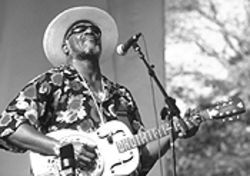 Taj Mahal performs Saturday at the Denver Blues & Bones Festival.