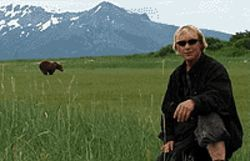 Unbearable: Timothy Treadwell poses in the wilds in   Grizzly Man.