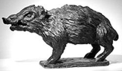 """Boar,"" by Jeff Starr, glazed terra-cotta."