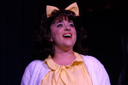 Megan Kane is Tracy Turnblad in Hairspray.