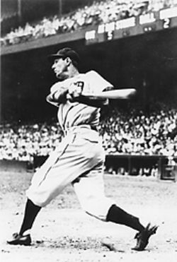 Hank Greenberg in the swing of things.