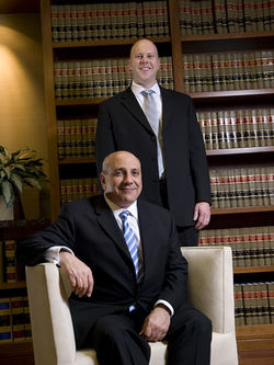 Sending a message: Latham attorneys Marc Levy (seated) and Joshua Proctor asked the jury for $7 million in damages — and won one of the largest bad-faith verdicts ever awarded in Colorado.