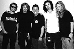 A wild and crazy guy: Harlan Hendrickson with Skid Row.