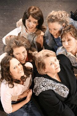 Steel Magnolias (clockwise from top left) Sally  Clodfelter, Theresa Adams, Terry Ann Watts, Carol  Rust, Deidre O'Connor and Kristin Fuhrmann Clark.