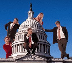 The Capitol Steps' political satire is reaching new  heights.