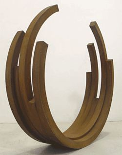&quot;219 Arc x 5,&quot; by Bernar Venet, welded steel.
