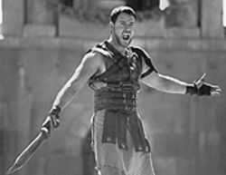 There's no place like Rome: Russell Crowe in Gladiator.
