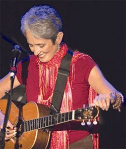 Joan Baez still aims to agitate.