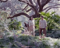 Annabeth Gish and Matthew Settle on the trail of the  Celestine Prophecy.
