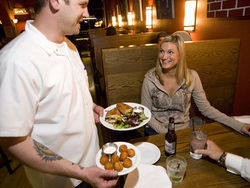 Chef Jeremy McMinn serves up some of his straightforward comfort food to Lindsay Wilder.