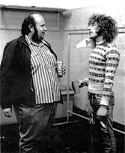 Barry Fey circa 1972, with Roger Daltrey of the Who.
