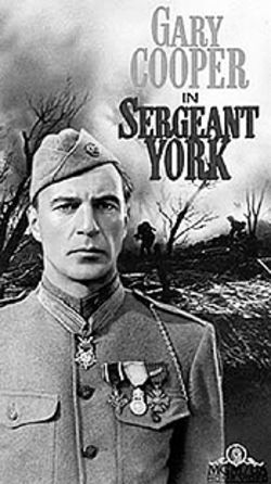 Gary Cooper embodied the principled but determined G.I. in Sergeant York.