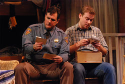 Michael McNeill (left) and Jake Walker in Home by Dark.