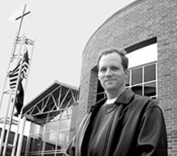 Not God forsaken: Cherry Hills Community Church pastor David Meserve warns that prayer is needed to balance homogeneity.