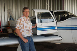 Matt Schwall is one of two pilots who fly the hops back to Longmont.