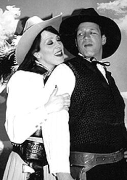 Annie Dwyer and T.J. Mullin in Who Done in Belle 