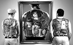 Rich Ives's tattoo art is part of the I-25 exhibit.