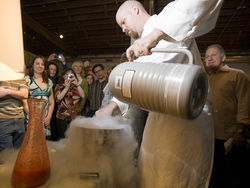 Ian Kleinman serves up some weird food science at hushDenver.