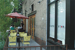 Get a closer look at East Colfax on Cafe Star&#039;s patio.