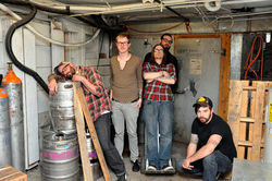 Il repute: Jed Kopp (from left), Holland Rock-Garden, Matt Bellinger, Brian Hagman and Matty Clark are Il Cattivo.