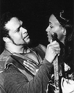 Jeffrey Nickelson and Jada Roberts in Macbeth.