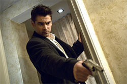 Colin Farrell plays a hit man in Martin McDonagh&#039;s In Bruges.