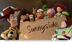 Woody, Mr. Potato Head, Slinky Dog, Rex, Buzz Lightyear and the rest of the crew return in Toy Story 3.