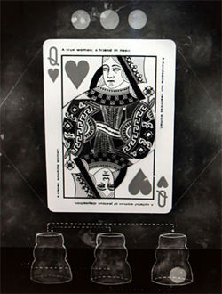 """Queen of Hearts,"" by Carol Golemboski, gelatin silver print."