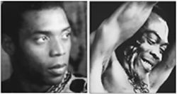 Who's your daddy? Femi Anikulapo-Kuti and his late father, Fela.