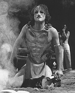 Robert Petkoff as Achilles in Tantalus.