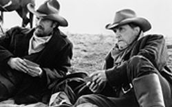 Hokey pokey: Kevin Costner and Robert Duvall get  gritty in Open Range.