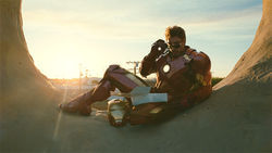 Robert Downey Jr. stars in Iron Man 2.