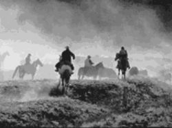 """Cattle Drive No. 8,"" by Allen Birnbach, toned silver print."
