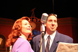 Crystal Verdon Eisele and Bobby Labartino in It's a Wonderful Life.