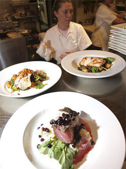 Executive chef Sheila Lucero lures diners with her original creations.
