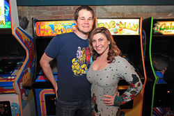 Jeff Pickles and wife Marika Lorraine at the 1up in LoDo.