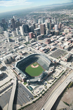 Seeing Coors Field from the sky can be a revelation.