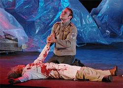 Richard Thieriot and Bob Buckley find blood will tell in Julius Caesar.