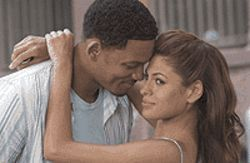 Get a grip: Will Smith and Eva Mendes embrace love 