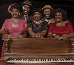 LaDonna Burns (left), Kenny Moten, Mary Louise Lee,  Eric Lee Johnson and Jayne Trinette in Ain't  Misbehavin'.