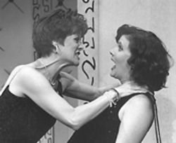 Tracy Lore and Diane Vincent in Jerry's Girls.