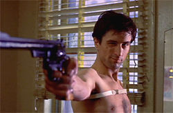 Here&#039;s looking at you, kid. A young De Niro in Taxi Driver.