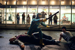 Aaron Johnson stars in Kick-Ass.
